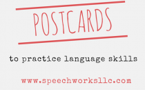 Postcards to practice language skills