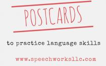 Postcards to practice language skills