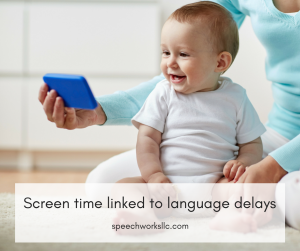 Screen time lined to language delays in children