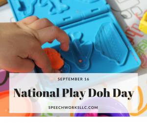 Are you ready for National Play Doh Day on September 16?