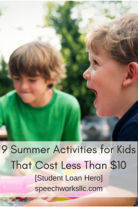 Nine Low Cost Summer Activities for Kids